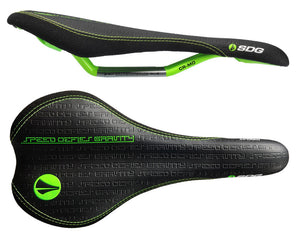 SDG Circuit MTN Cro-Mo Rail Seat - Black / Lime Green