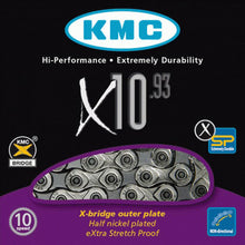 Load image into Gallery viewer, KMC X10-93 Silver / Grey 10 Speed Road Bike Chain
