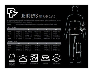 Race Face Trigger Short Sleeve Jersey - Size Guide
