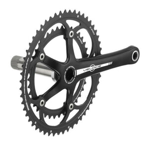 Campagnolo Veloce Alloy 10s Double Power Torque Crankset - Black