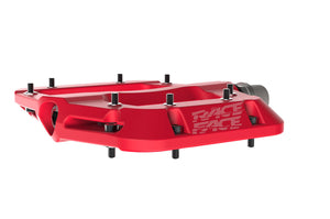 Race Face Chester Composite Flat Platform Pedals - Red