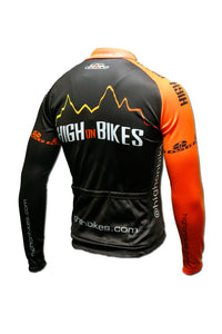 High on Bikes V4 - Long Sleeve Cycling Jersey - Back