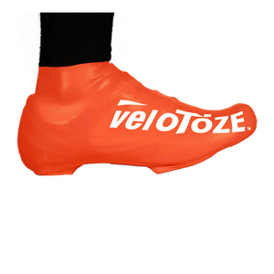 VeloToze Latex Road Bike Shoe - Oversock Shoe Cover - Short - Orange