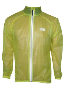 Funkier Stowaway Showerproof Cycling Jacket J1305 - Yellow