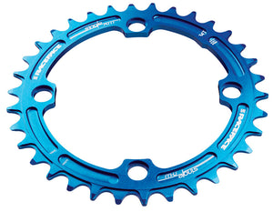 Race Face Narrow Wide Single Chainring - 104mm - Blue - 34t