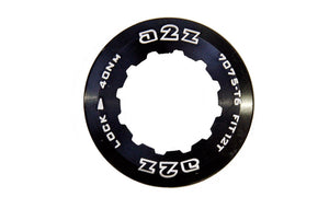 A2Z Alloy Road Bike Cassette Lock Ring 12T Shimano / Sram - Black