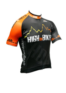 High on Bikes V4 - Short Sleeve Cycling Jersey  - Front