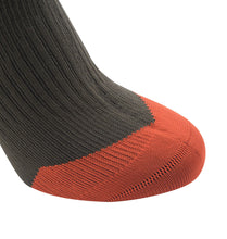 Load image into Gallery viewer, SealSkinz MTB Mid Knee - Waterproof Socks - Olive / Mud / Orange