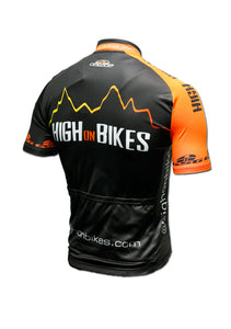High on Bikes V4 - Short Sleeve Cycling Jersey - Back