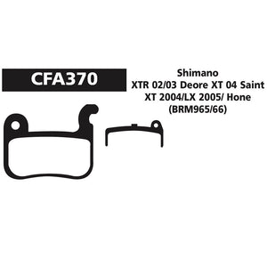 EBC - CFA370 - Green - Shimano XT XTR LX Hone Mini Disc Brake Pads