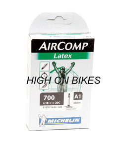 Michelin AirComp A1 LATEX Road Bike Inner Tube 700c x 18-20 Presta - 36mm