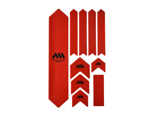 AMS Honeycomb Frame Guard - XL - Red / Black