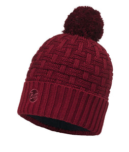 Buff - Airon - Knitted Hat - Wine / Black