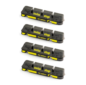 Swissstop Flash Pro Black Prince Carbon Rim Brake Pad Inserts x 4 - Black