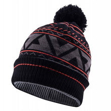 Load image into Gallery viewer, SealSkinz Waterproof Bobble Hat - Black / Fireworks