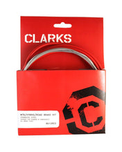 Load image into Gallery viewer, Clarks Universal Brake Cable Set - Red