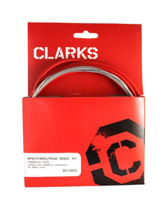 Clarks Universal Brake Cable Set - Red