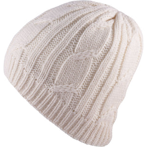 SealSkinz Cable Knit Waterproof / Windproof Beanie Hat - Cream