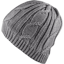 Load image into Gallery viewer, SealSkinz Cable Knit Waterproof / Windproof Beanie Hat - Grey