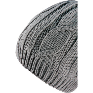 SealSkinz Cable Knit Waterproof / Windproof Beanie Hat - Grey