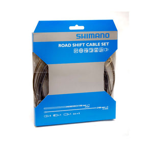 Shimano Road Bike PTFE Gear Cable Set - Grey