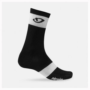 Giro Comp Racer Cycling Socks - High Rise - Black / White