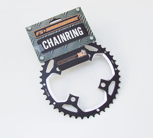 FS Hardware Mountain Bike Alloy Outer Chainring - 44T - 104mm - 4 Bolt