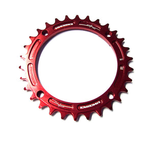 Race Face Narrow Wide Single Chainring - 104mm - Red - 30T