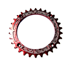 Race Face Narrow Wide Single Chainring - 104mm - Red - 32T