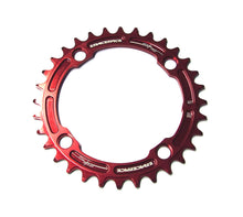 Load image into Gallery viewer, Race Face Narrow Wide Single Chainring - 104mm - Red - 30T