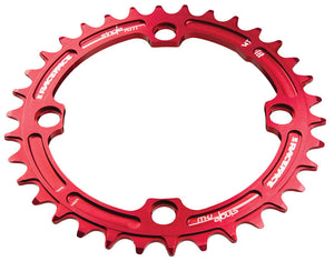 Race Face Narrow Wide Single Chainring - 104mm - Red - 34T