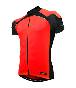 Funkier Kids Short Sleeve Cycling Jersey - Red