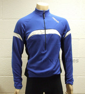 MIDAS Long Sleeve Winter Cycling Jersey Top - Blue