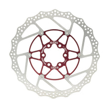 Load image into Gallery viewer, A2Z Teppan Yaki SP5 Mountain Bike Floating Disc Brake Rotor - 180mm - Red