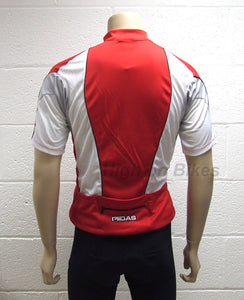 MIDAS Short Sleeve Cycling Jersey / Top Red Small