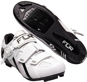 FLR F-15.III Race - Road Bike Cycling Shoes - Shimano & Look Compatible - Matt White / Black
