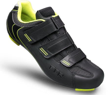 Load image into Gallery viewer, FLR F-35.III - Road Bike Cycling Shoes - Shimano & Look Compatible - Matt Black / Neon Trim