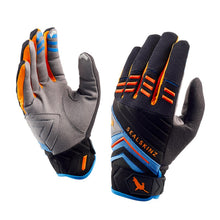 Load image into Gallery viewer, SealSkinz Dragon Eye MTB Waterproof Gloves - Black / Blue / Orange