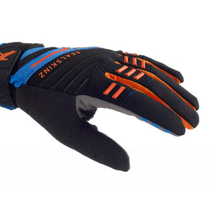 SealSkinz Dragon Eye MTB Waterproof Gloves - Black / Blue / Orange