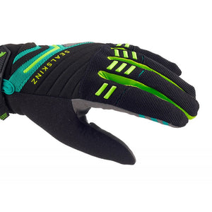 SealSkinz Dragon Eye MTB Waterproof Gloves - Black / Leaf / Lime