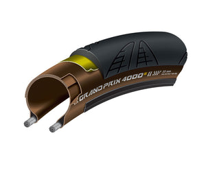 Continental Grand Prix 4000 S II - Road Bike Tyre Folding - Brown