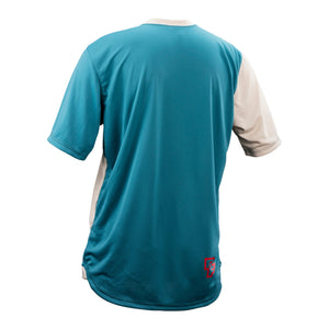 Race Face Indy Short Sleeve Jersey - Sand / Slate - Back