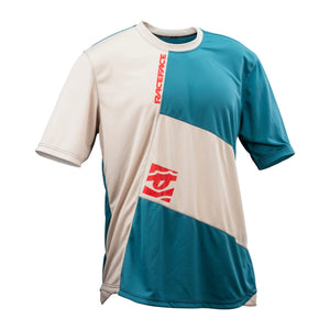 Race Face Indy Short Sleeve Jersey - Sand / Slate - Front