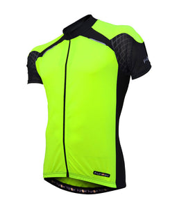 Funkier Kids Short Sleeve Cycling Jersey - Yellow