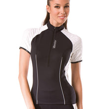 Load image into Gallery viewer, Santini Labyrinth Ladies Cycling Jersey / Top - Black