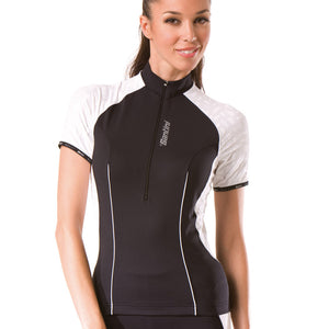 Santini Labyrinth Ladies Cycling Jersey / Top - Black