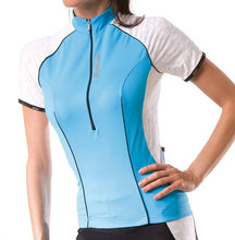 Load image into Gallery viewer, Santini Labyrinth Ladies Cycling Jersey / Top - Blue