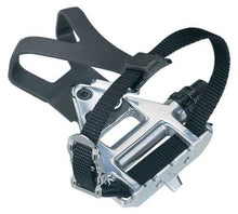 Load image into Gallery viewer, Wellgo LU-961- Road Bike Pedals + Toe Clips & Straps