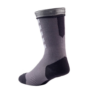 SealSkinz MTB Mid Length Hydrostop Socks - Anth / Mid Grey / Black