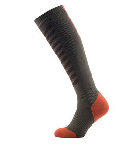 SealSkinz MTB Mid Knee - Waterproof Socks - Olive / Mud / Orange